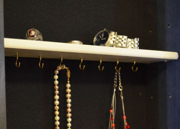 Jewelry Hook Shelf